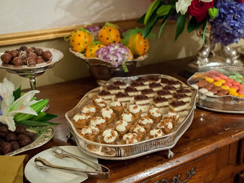 Private party desserts on table