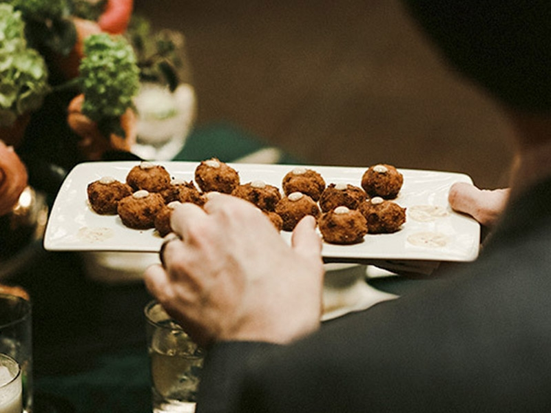 Private Party appetizers being served